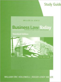Study Guide for Miller/Jentz's Business Law Today, Standard Edition