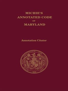 Maryland Code Citator