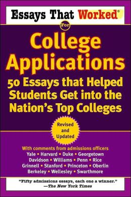essays and universities applications