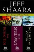 Book Cover Image. Title: Three Novels of World War II:  The Rising Tide, The Steel Wave, No Less Than Victory, Author: Jeff Shaara