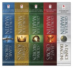 George R. R. Martin's A Game of Thrones 5-Book Boxed Set (Song of Ice and Fire Series): A Game of Thrones, A Clash of Kings, A Storm of Swords, A Feast for Crows, and and A Dance with Dragons