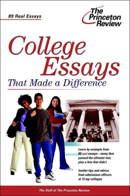 college essays that made a difference review Find helpful customer reviews and review ratings for college essays that made a difference, 5th edition (college admissions guides) at amazoncom read honest and.