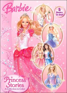 Barbie Princess Stories: A Collect to Color