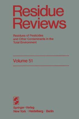 Reviews of Environmental Contamination and Toxicology 51