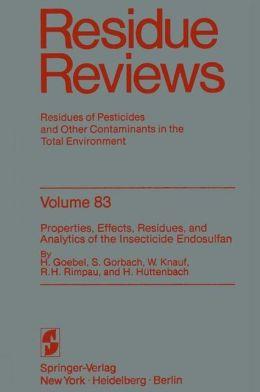 Reviews of Environmental Contamination and Toxicology 83