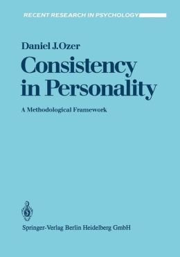 Consistency in Personality: A Methodological Framework