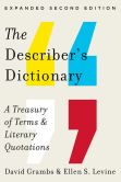 Book Cover Image. Title: The Describer's Dictionary:  A Treasury of Terms & Literary Quotations, Author: David Grambs