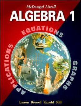 McDougal Littell High School Math: Student Edition Algebra 1 2001