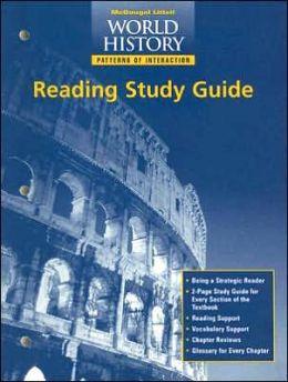 McDougal Littell World History: Patterns of Interaction: Reading Study Guide Grades 9-12 Modern World History
