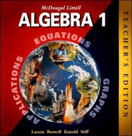 McDougal Littell High School Math: Teachers Edition Algebra 1 2001