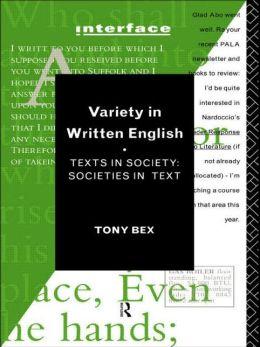 Variety in Written English