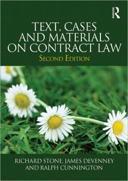 Text, Cases and Materials on Contract Law
