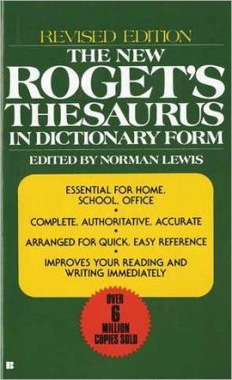 New Roget's Thesaurus in Dictionary Form
