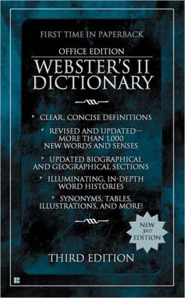 Webster's II Dictionary (General Edition)