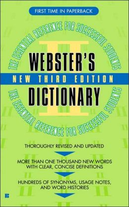 Webster's II Dictionary: Student Edition
