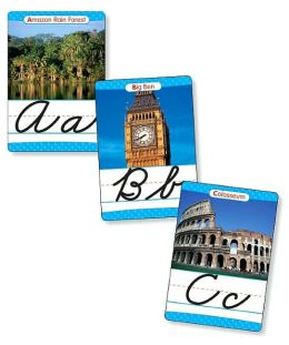 Around the World Cursive Alphabet Set: 26 Ready-to-Display Letter Cards with Fabulous Photos of Extraordinary Natural Wonders, Ancient Sites, Architecture, and More, Grades 2-6