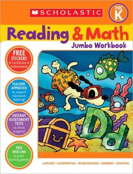 Reading and Math Jumbo Workbook: Pre-K