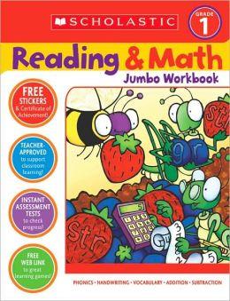 Reading and Math Jumbo Workbook: Grade 1