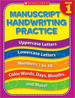 Manuscript Handwriting Practice Grade 1