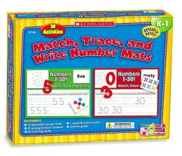 Match, Trace, and Write Numbers Mats K-1: 30 Activities