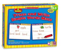 Hands-On Learning: Trace and Write Simple Words Mats