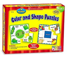 Color and Shape Puzzles, PreK-1: 20 Activities