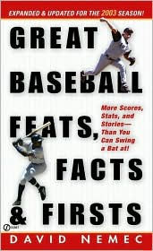 The 2003 Great Baseball Feats, Facts and First's