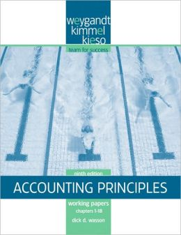 Accounting Principles - Working Papers - Chapters 1-18