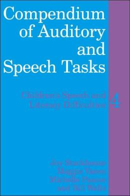 Compendium of Auditory and Speech Tasks