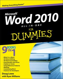 Word 2010 All-in-One For Dummies