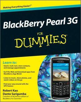 BlackBerry Pearl 3G For Dummies
