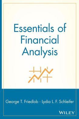 Essentials of Financial Analysis