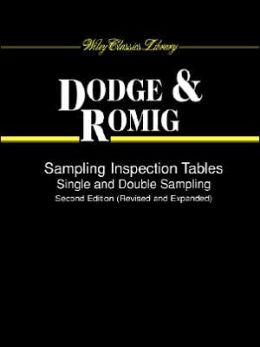 Sampling Inspection Tables: Single and Double Sampling