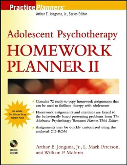 Adolescent Therapy Homework Planner with CD-ROM, Volume 2