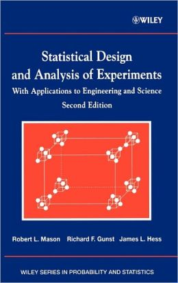 Statistical Design and Analysis of Experiments: With Applications to Engineering and Science