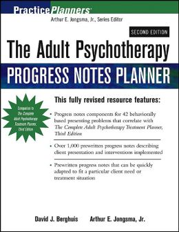 Adult Psychotherapy Progress Notes Planner (Practice Planners Series)