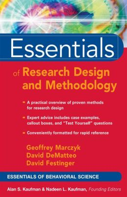Essentials of Research Design and Methodology (Essentials of Behavioral Science Series)