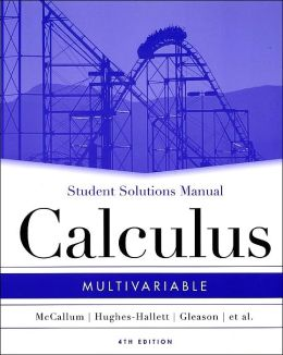 Calculus Multivariable - Student Solution Manual