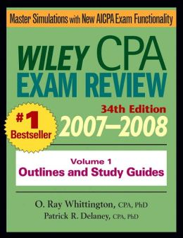 Wiley CPA Examination Review 2007-2008, Outlines and Study Guides