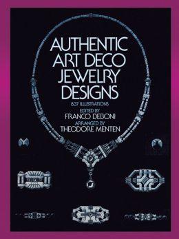 Authentic Art Deco Jewelry Designs: 837 Illustrations