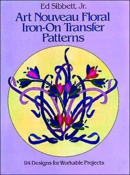 Art Nouveau Floral Iron-on Transfer Patterns