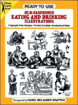Old-Fashioned Eating and Drinking Illustrations