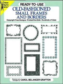 Ready-to-Use Old-Fashioned Small Frames and Borders
