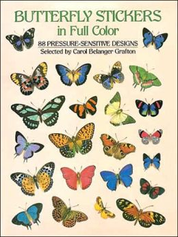 Butterfly Stickers in Full Color: 88 Pressure-Sensitive Designs