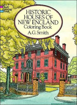 Historic Houses of New England Coloring Book