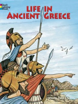 Life in Ancient Greece Coloring Book