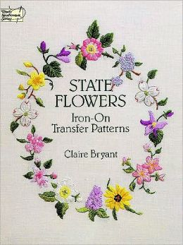 State Flowers Iron-on Transfer Patterns