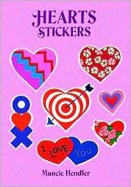 Hearts Stickers: 28 Pressure-Sensitive Designs