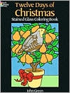 Twelve Days of Christmas Stained Glass Coloring Book