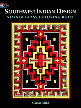 Southwest Indian Design: Stained Glass Coloring Book